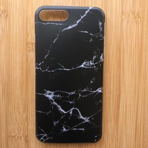 Accessories - NEW Iphone 7/8/7+/8+ Black Marble Stone Case